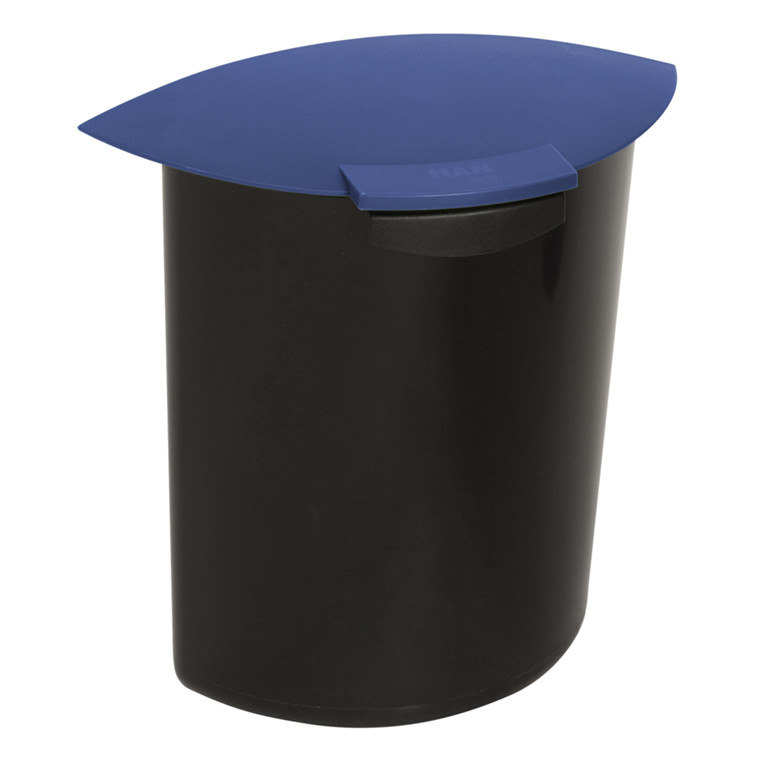Papirkurv, blå, 6 l