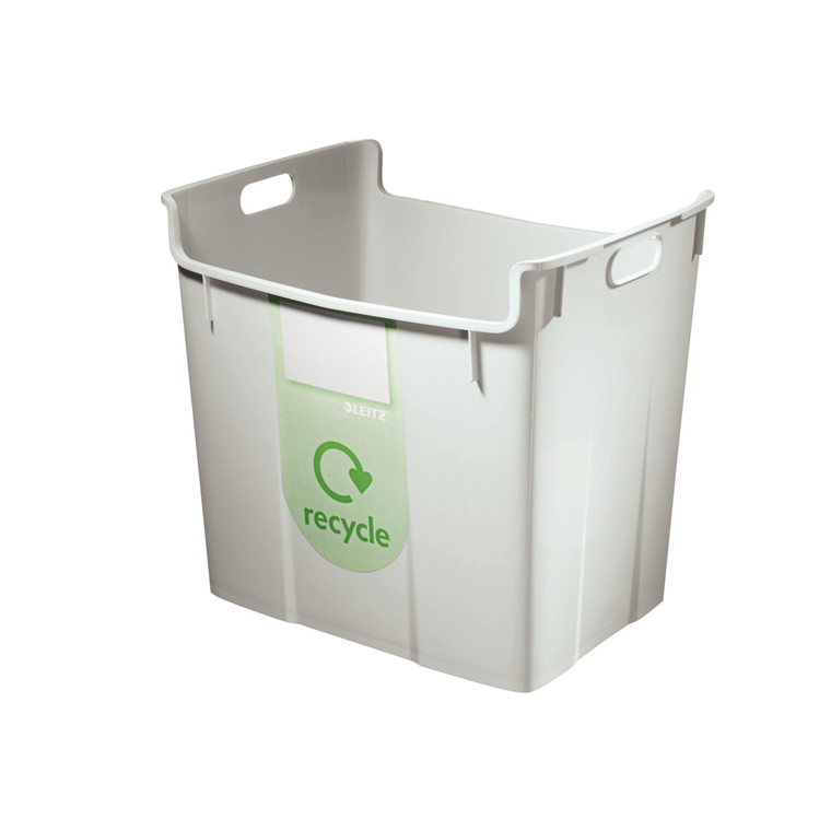 Leitz Basko Papirkurv til genbrug 40 liter - Grå med recycle label