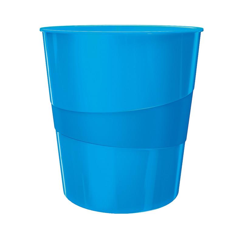Papirkurv blå 15 liter - Leitz Plus WOW
