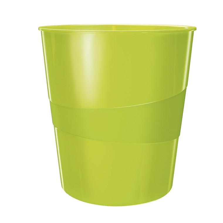 Papirkurv grøn 15 liter - Leitz Plus WOW