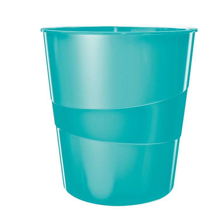 Leitz Plus WOW - Papirkurv 15 liter isblå