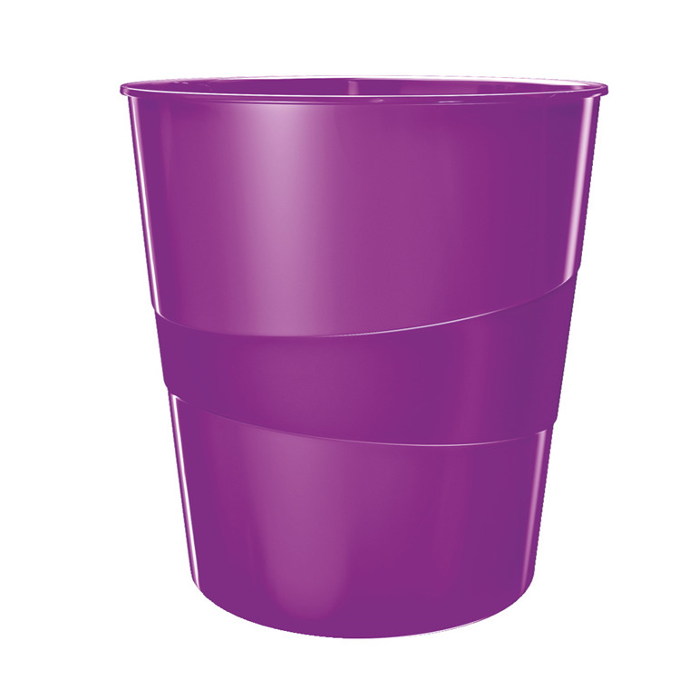 Papirkurv 15 liter lilla -  Leitz Plus WOW