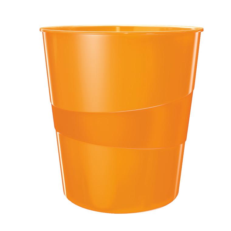 Papirkurv orange 15 liter - Leitz Plus WOW
