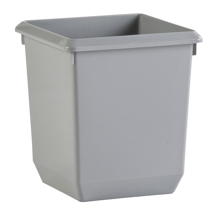 Papirkurv, V-part, grå, 21 l