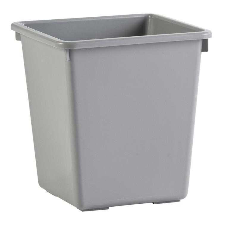 Papirkurv, V-part, grå, 27 l