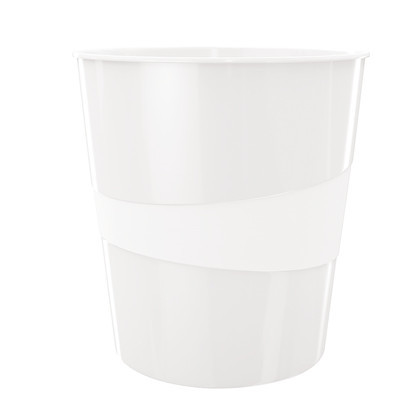 Papirkurv - Leitz Plus WOW hvid - 15 liter