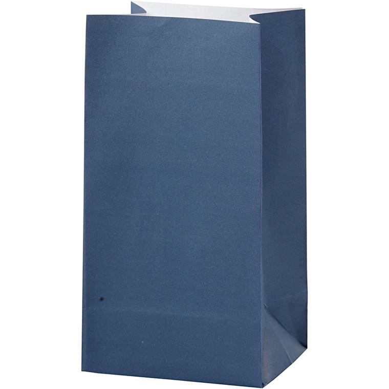 Papirsposer højde 17 cm str. 6 x 9 cm blå 80 gram | 10 stk.