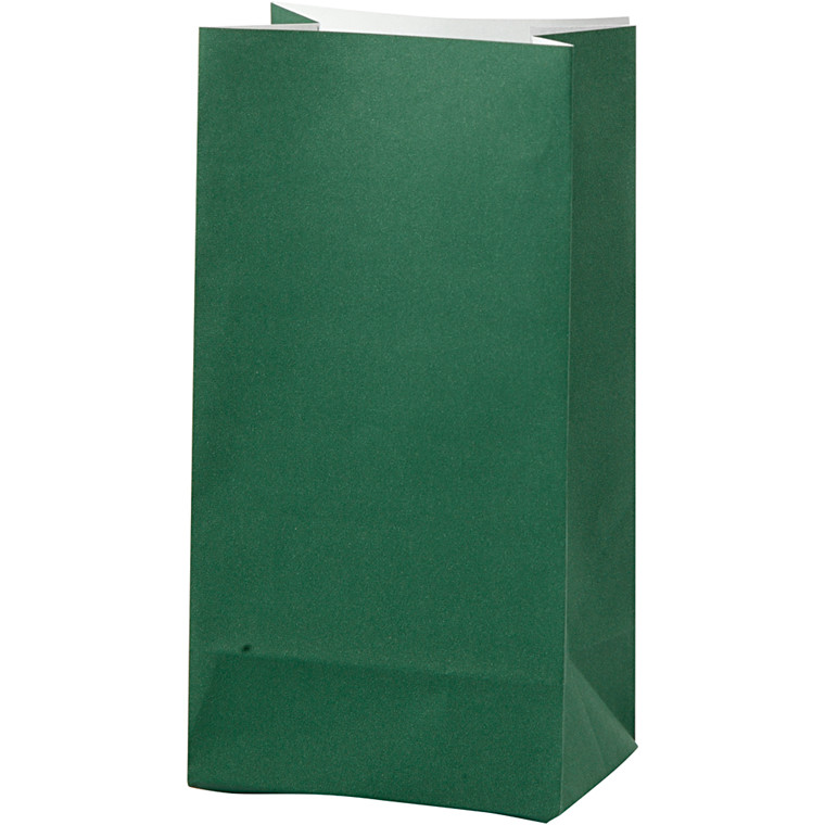 Vivi Gade Papirsposer grøn 80 gram Højde 17 cm str. 6 x 9 cm - 10 stk