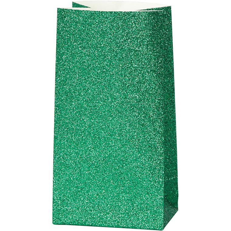 Vivi Gade Papirsposer grøn 150 gram Højde 17 cm str. 6 x 9 cm - 8 stk