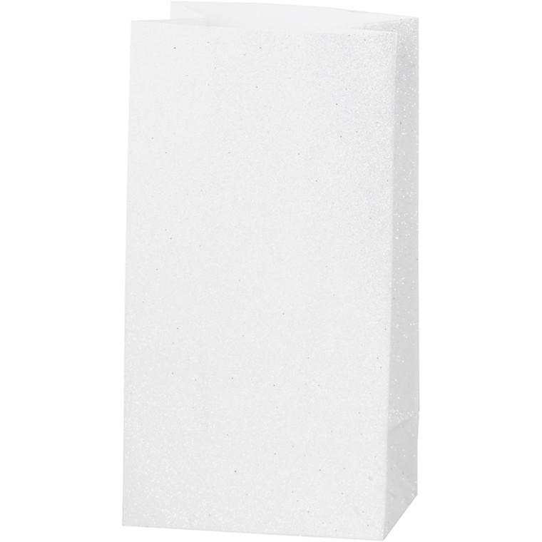 Papirsposer højde 17 cm str. 6 x 9 cm hvid 150 gram   8 stk.