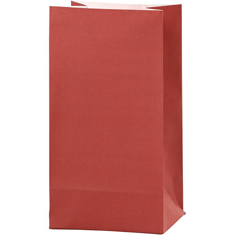 Vivi Gade Papirsposer rød 80 gram Højde 17 cm str. 6 x 9 cm - 10 stk