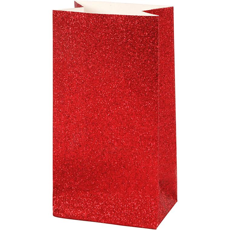 Vivi Gade Papirsposer rød 150 gram Højde 17 cm str. 6 x 9 cm - 8 stk