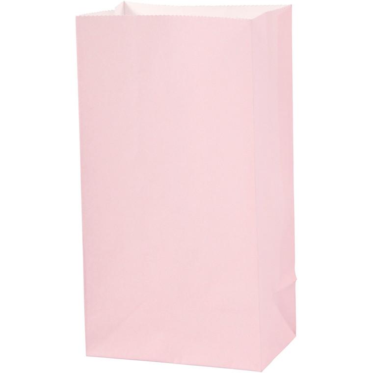 Papirsposer højde 17 cm størrelse 6 x 9 cm rosa 80 gram | 10 stk.