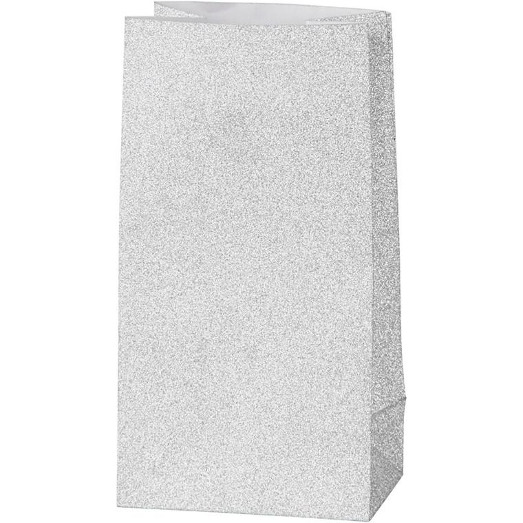 Vivi Gade Papirsposer sølv 120 gram Højde 17 cm str. 6 x 9 cm - 8 stk
