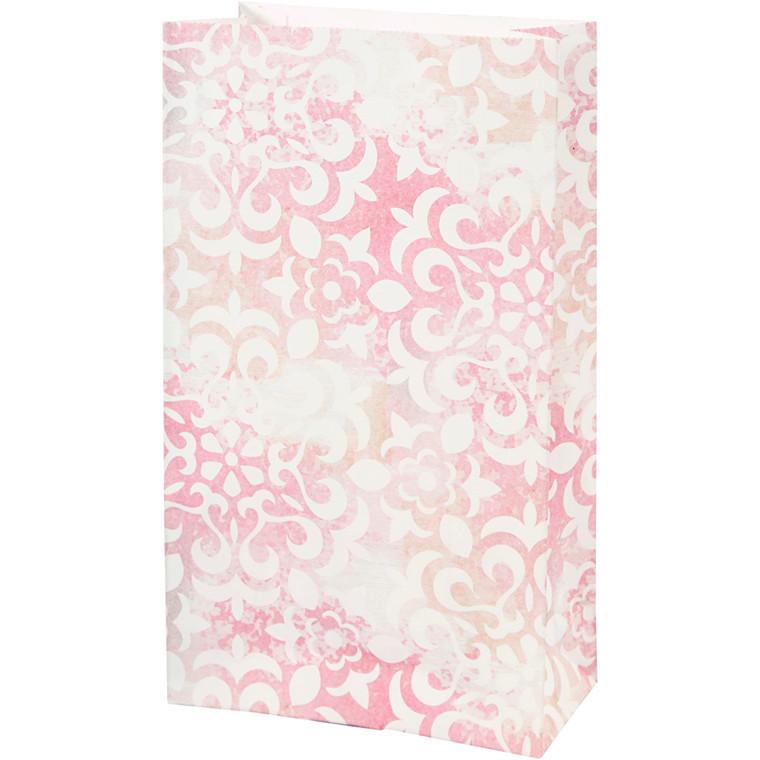 Papirsposer højde 21 cm størrelse 6 x 12 cm akvarel 80 gram   10 stk.