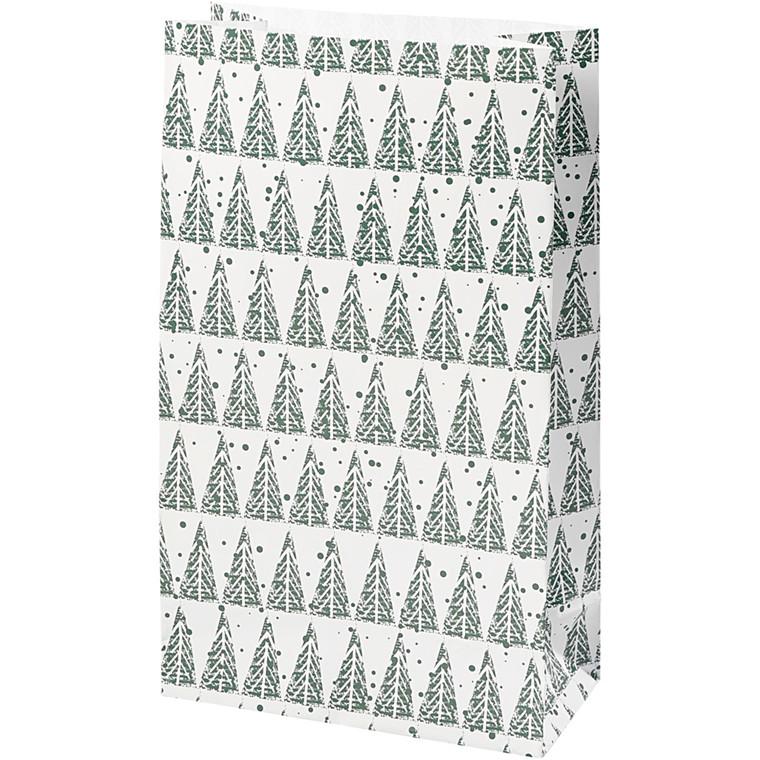 Vivi Gade Papirsposer grantræ Højde 21 cm str. 6 x 12 cm - 8 stk