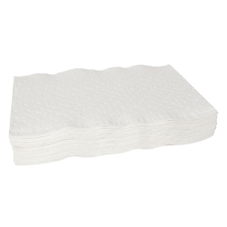 Papirvaskeklud, Abena, 3-lags, præget, 19x19 cm