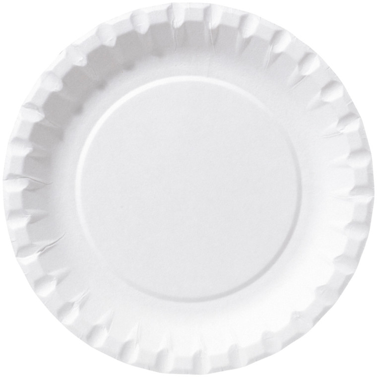 Paptallerken, Duni, hvid, pap, 15 cm
