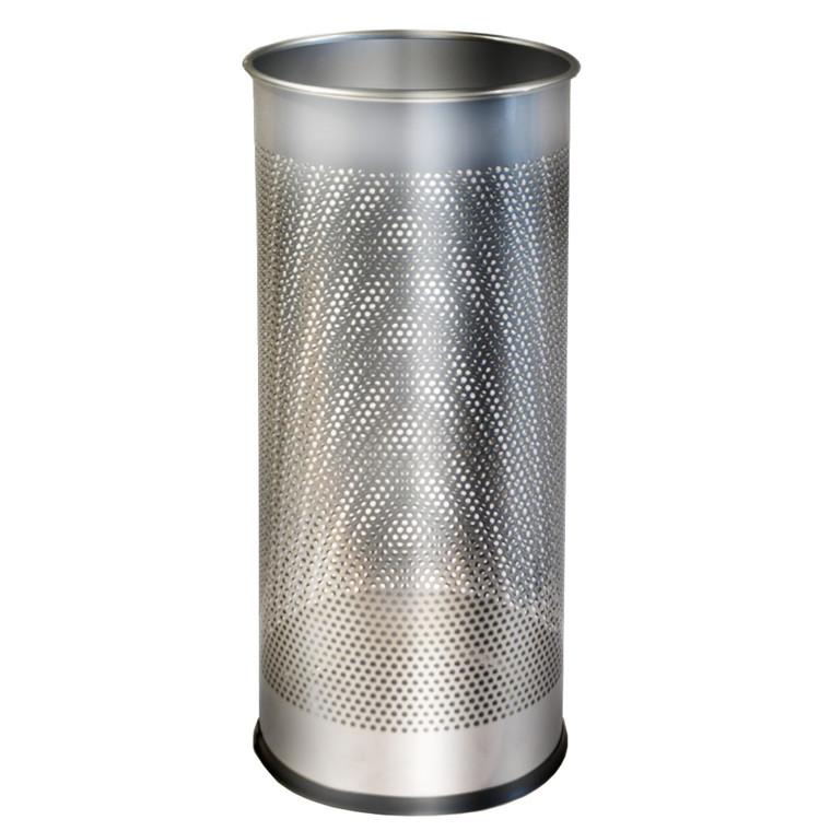 Paraplystand TWIN METAL sølv 28,5L Ø:27xH:59cm