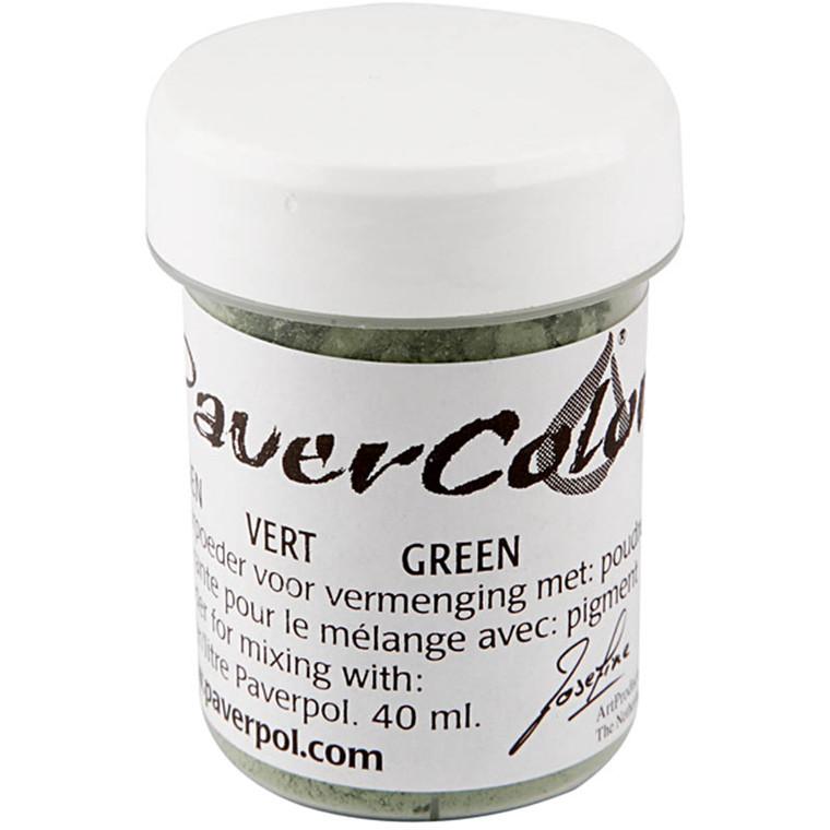 Pulverfarve Paverpol grøn - 40 ml