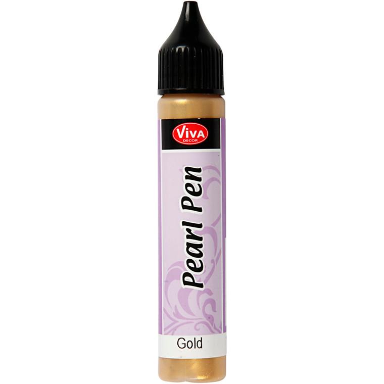 Pearl Pen, guld, 25ml