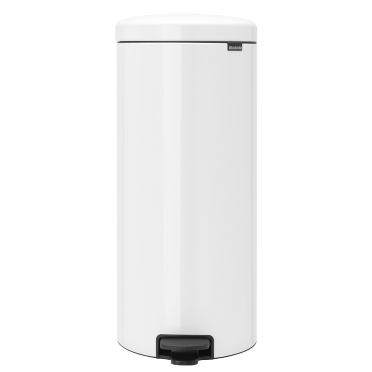 Pedalspand, Brabantia Newlcon, hvid, med plast inderspand, softclose, 30 l