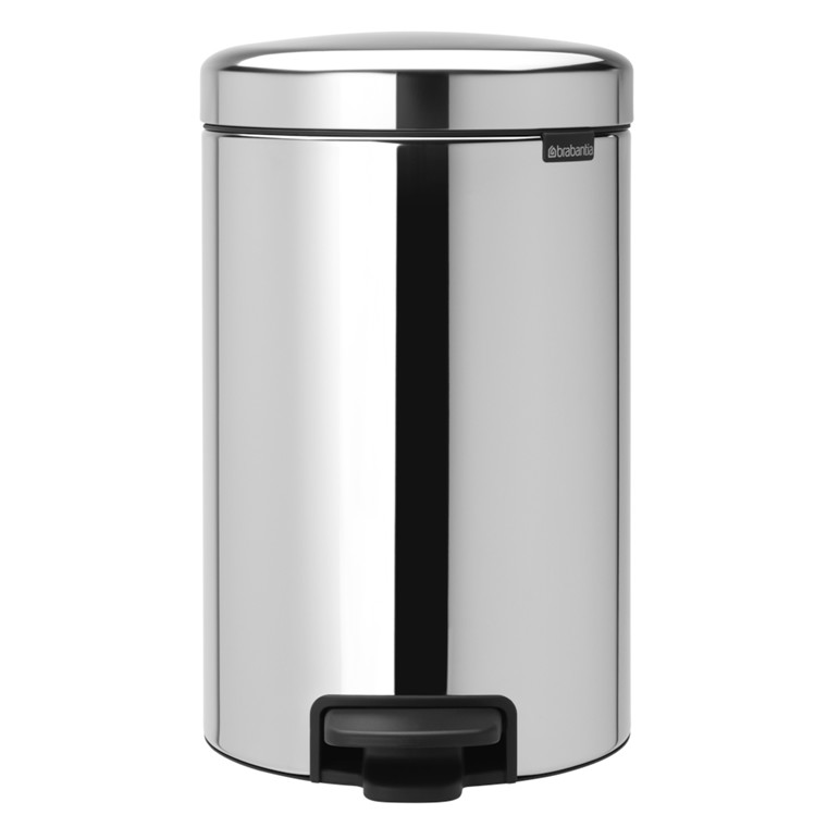 Pedalspand, Brabantia Newlcon, stål, med plast inderspand, softclose, 12 l