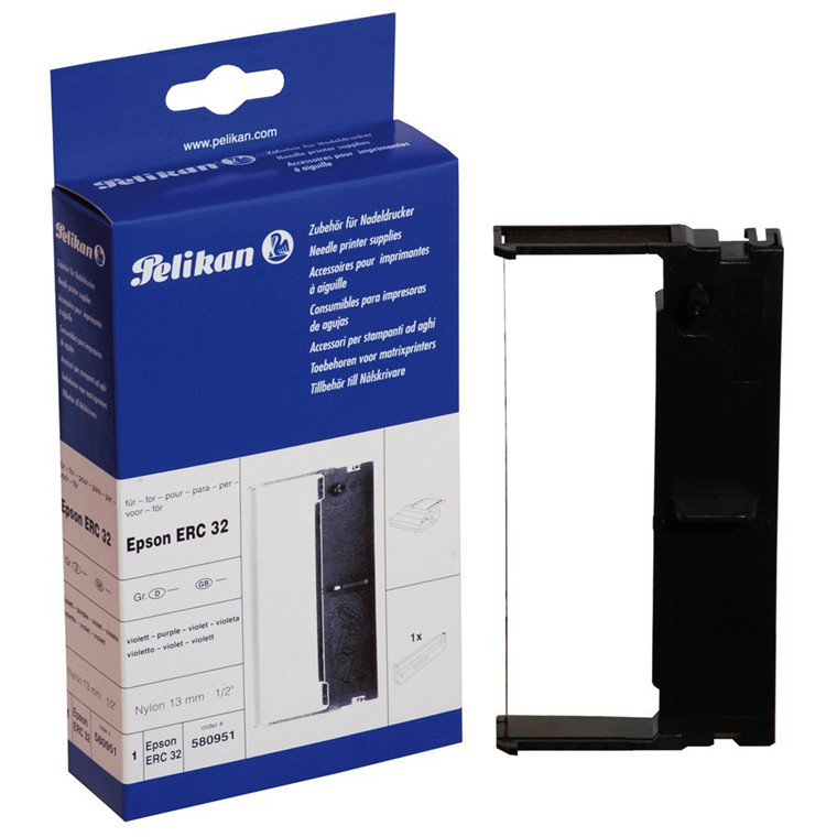 Pelikan compatible impact ribbon Epson ERC 32 purple