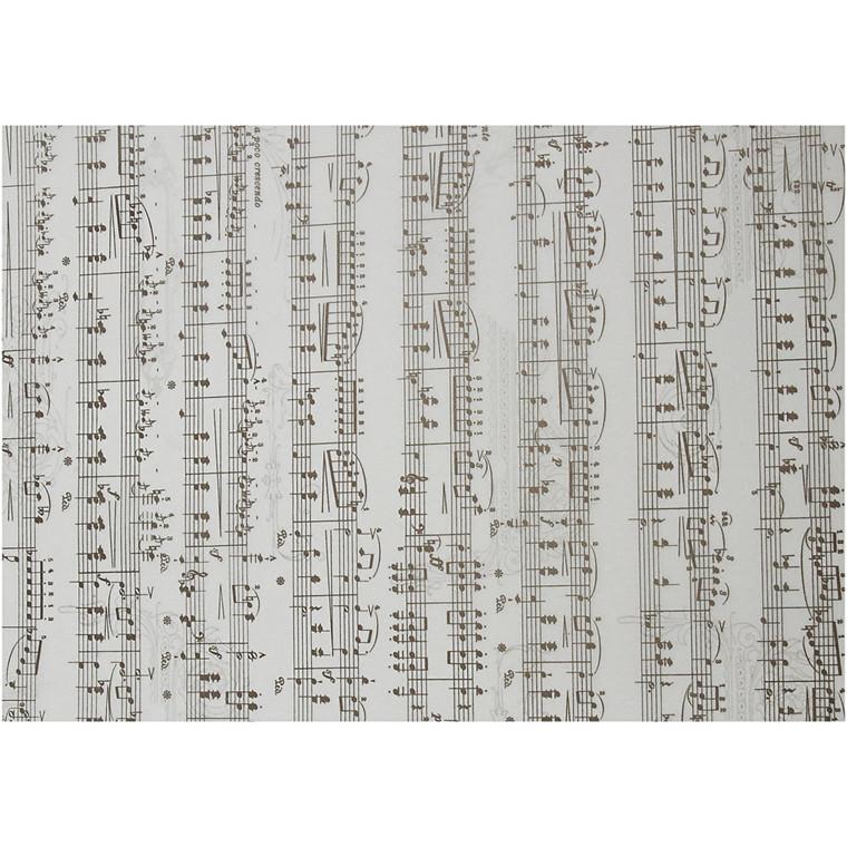 Pergamentpapir, A4 21x30 cm, 115 g, noder, 10ark