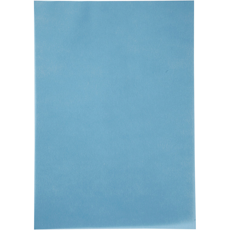 Pergamentpapir, blå, A4 210x297 mm, 100 g, 10ark