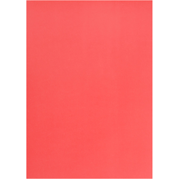 Pergamentpapir, rød, A4 210x297 mm, 100 g, 10ark
