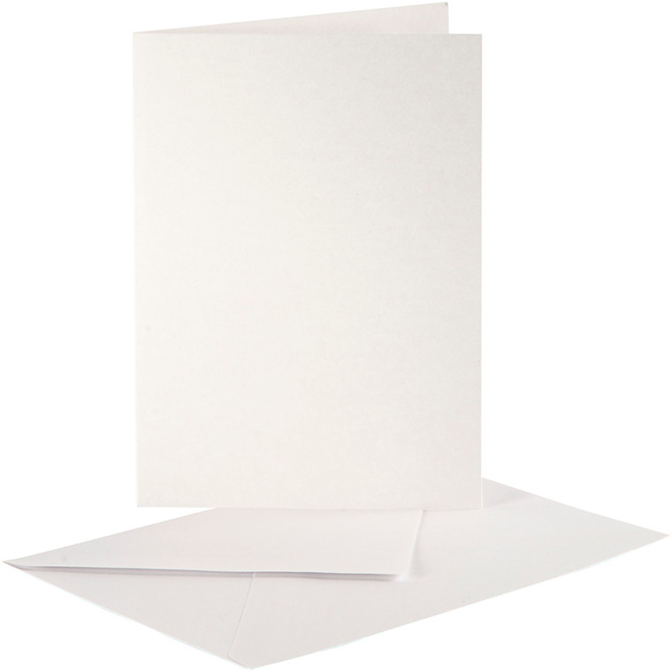 Perlemorskort, kort str. 10,5x15 cm, kuvert str. 11,5x16,5 cm, creme, 10sæt