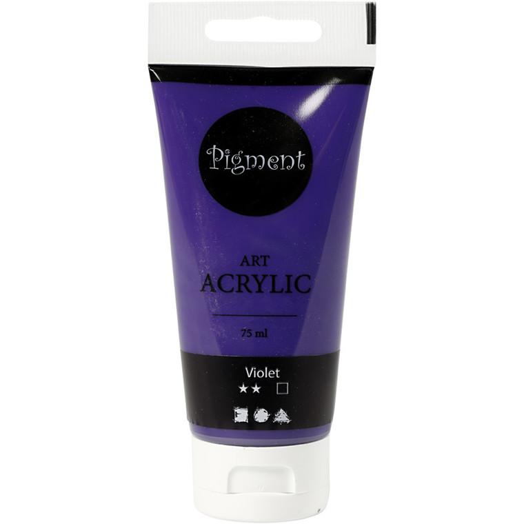 Akrylmaling Pigment Art, Violet , 75ml