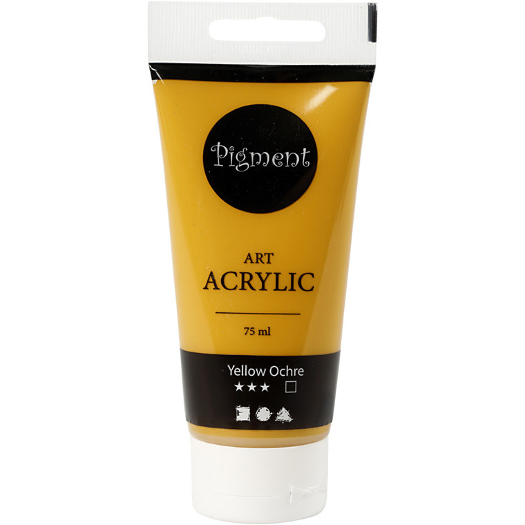Akrylmaling Pigment Art, Yellow ochre , 75ml