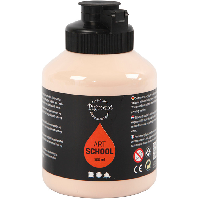 Pigment Art School, Fleshtone light , opaque, extremely fade resis, 500ml