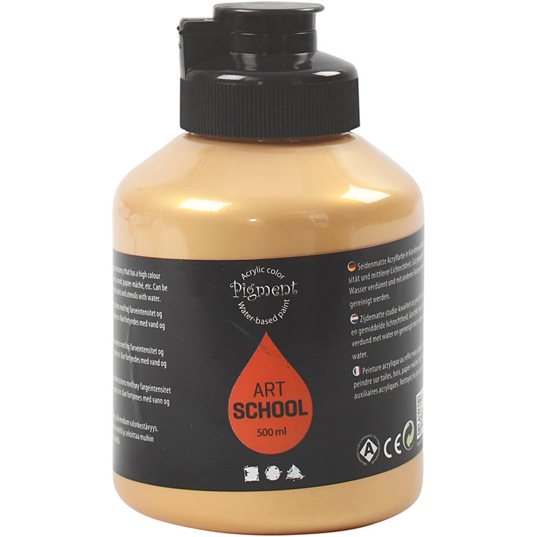 Pigment Art School, guld, 500ml
