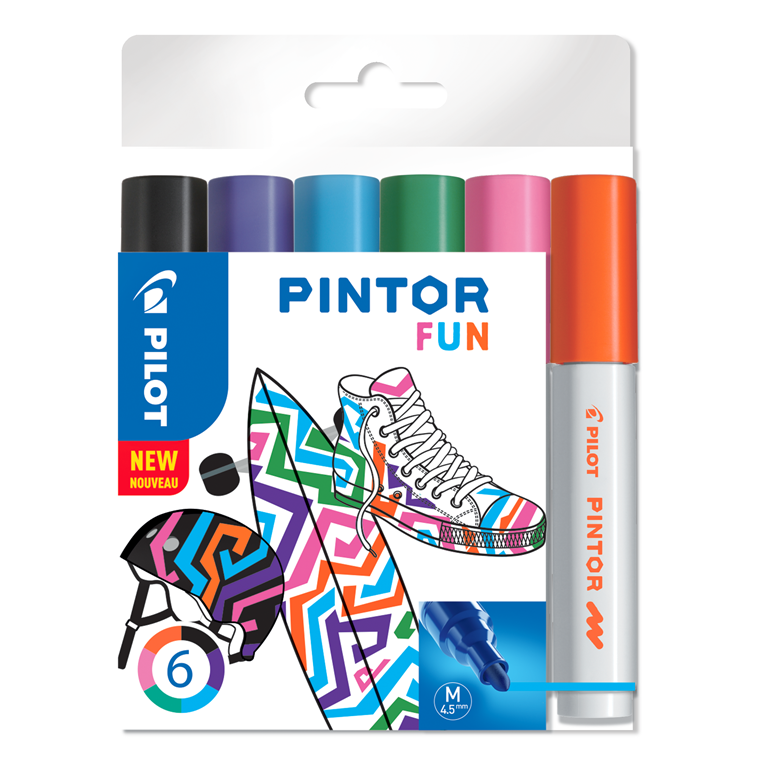 Pilot Marker Pintor Medium Fun Mix 1,4 ass (6)