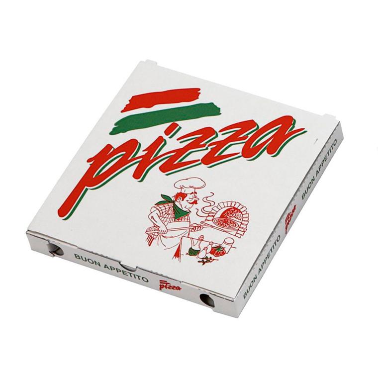 Pizzaæske 24 x 24 x 3 cm neutralt tryk - 100 stk.