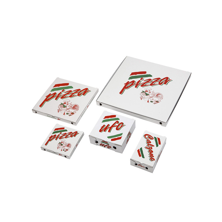 Pizzaæske 29 x 29 x 3 cm TREVISO neutralt tryk - 100 stk.