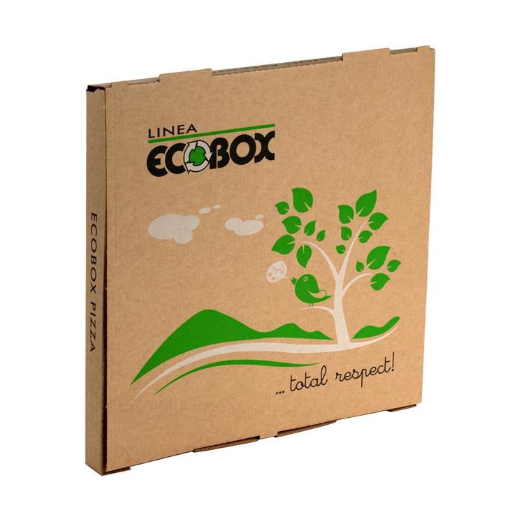 Pizzaæske Eco - box brun 32 x 32 x 3 cm - 100 stk.