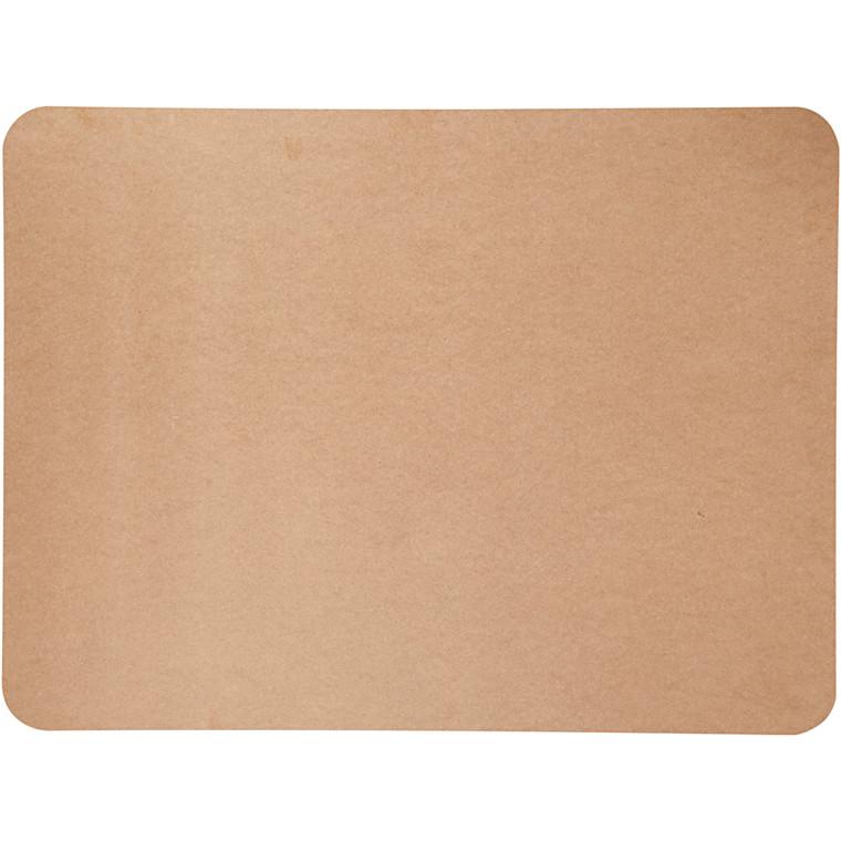 Plade, str. 75x100 cm, tykkelse 5 mm, MDF, 1stk.