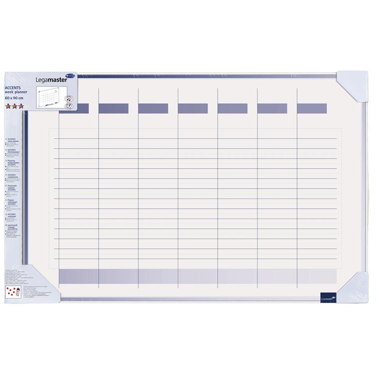 Planlægningstavle - Uge-planner Legamaster 4900 - 60 x 90 cm