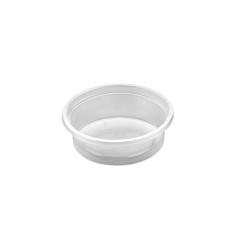 Plastbæger 3012 rund PP klar - 115 ml - 1000 stk.