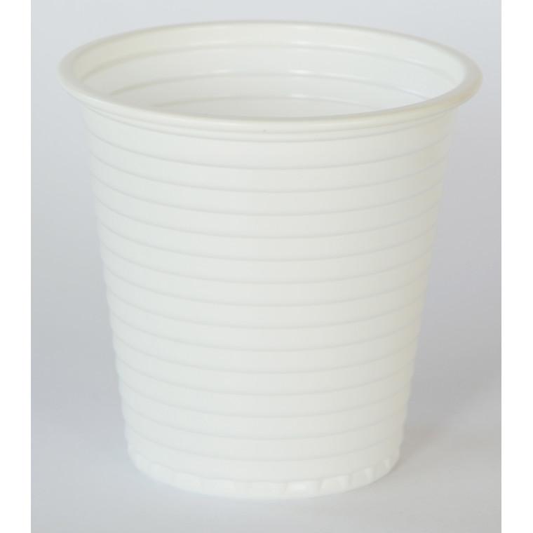 Plastbæger hvid 12cl 4000stk/kar - 80stk/ps