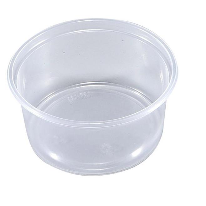 Plastbægre 10-250 rund PP klar 250 ml Ø 101 x 48 mm - 100 stk