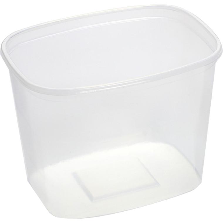 Plastbakke, 14x10,5x10,5cm, 1000 ml, klar, PS, *Denne vare tages ikke retur*