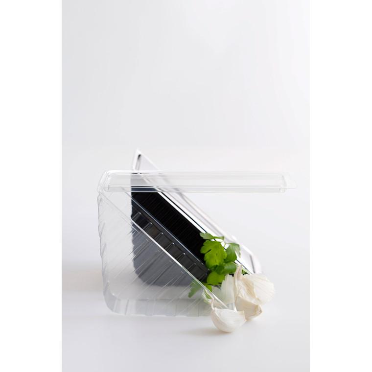 Plastbakke med låg bred 3-lags sandwich - 185 x 68 x 85 mm - 500 stk.