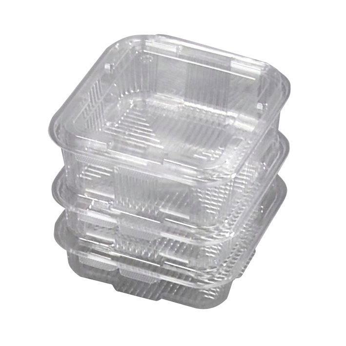 Plastbakke med hængslet låg v496 175 x 168 x 50 mm 750 ml - 300 stk