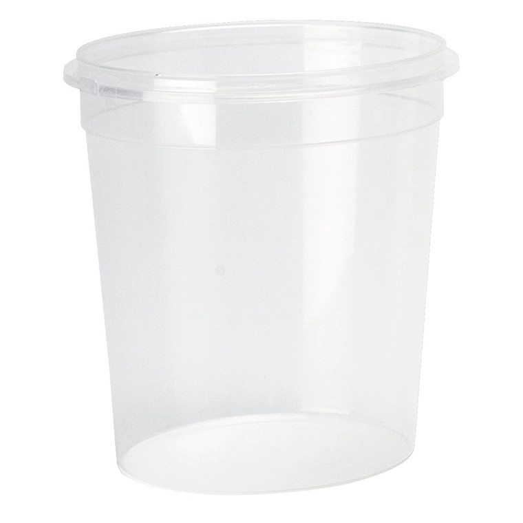 Plastbøtte + låg handy-lock PP 1025 ml Ø 118 mm - 180 sæt