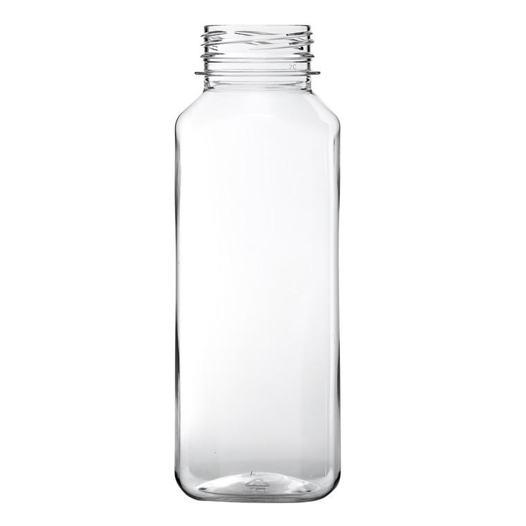 Plastflaske 330ml 56x56x155mm square transparent